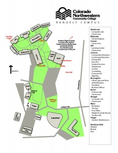 Map of CNCC Rangely Campus